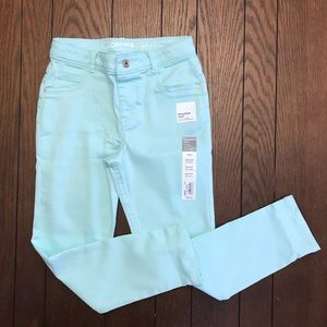 Sonoma Teal Colored Denim Jeggings Size 8 NWT